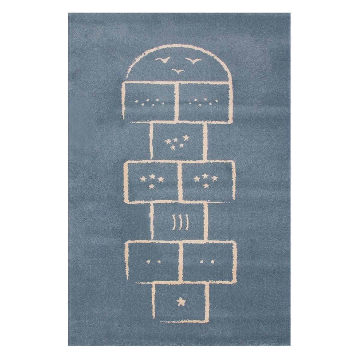 Tapis Tapis Marelle Bleu - 100 x 150 cm Tapis Marelle Bleu - 100 x 150 cm