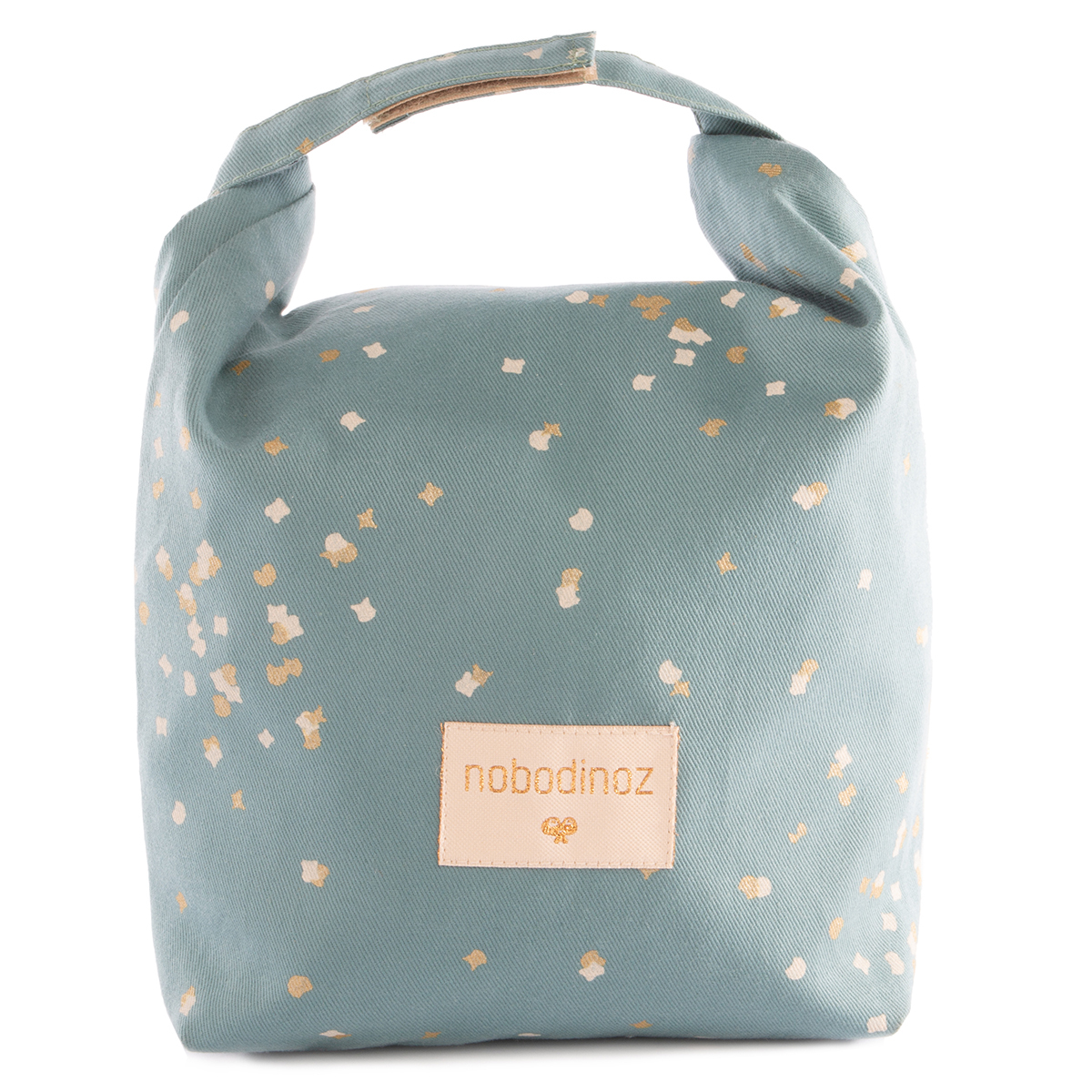 Sac isotherme Lunch Bag Waterproof - Gold Confetti & Magic Green