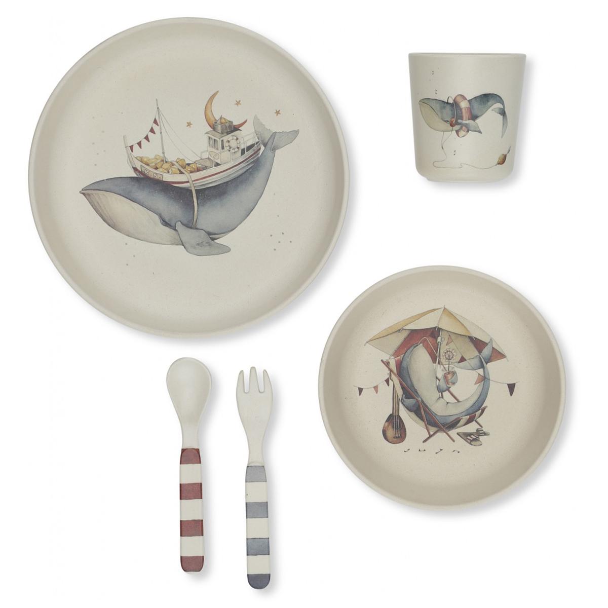 Coffret repas Coffret Repas 5 Pièces - Baleine