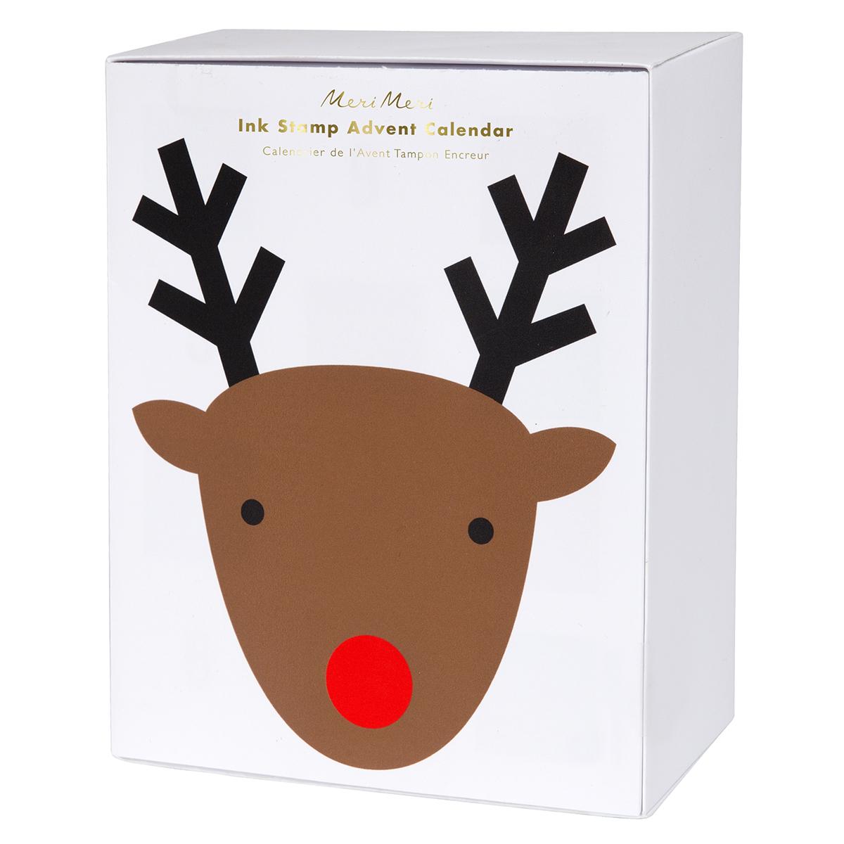Livre & Carte Calendrier de l'Avent - Tampons de Noël Calendrier de l'Avent - Tampons de Noël