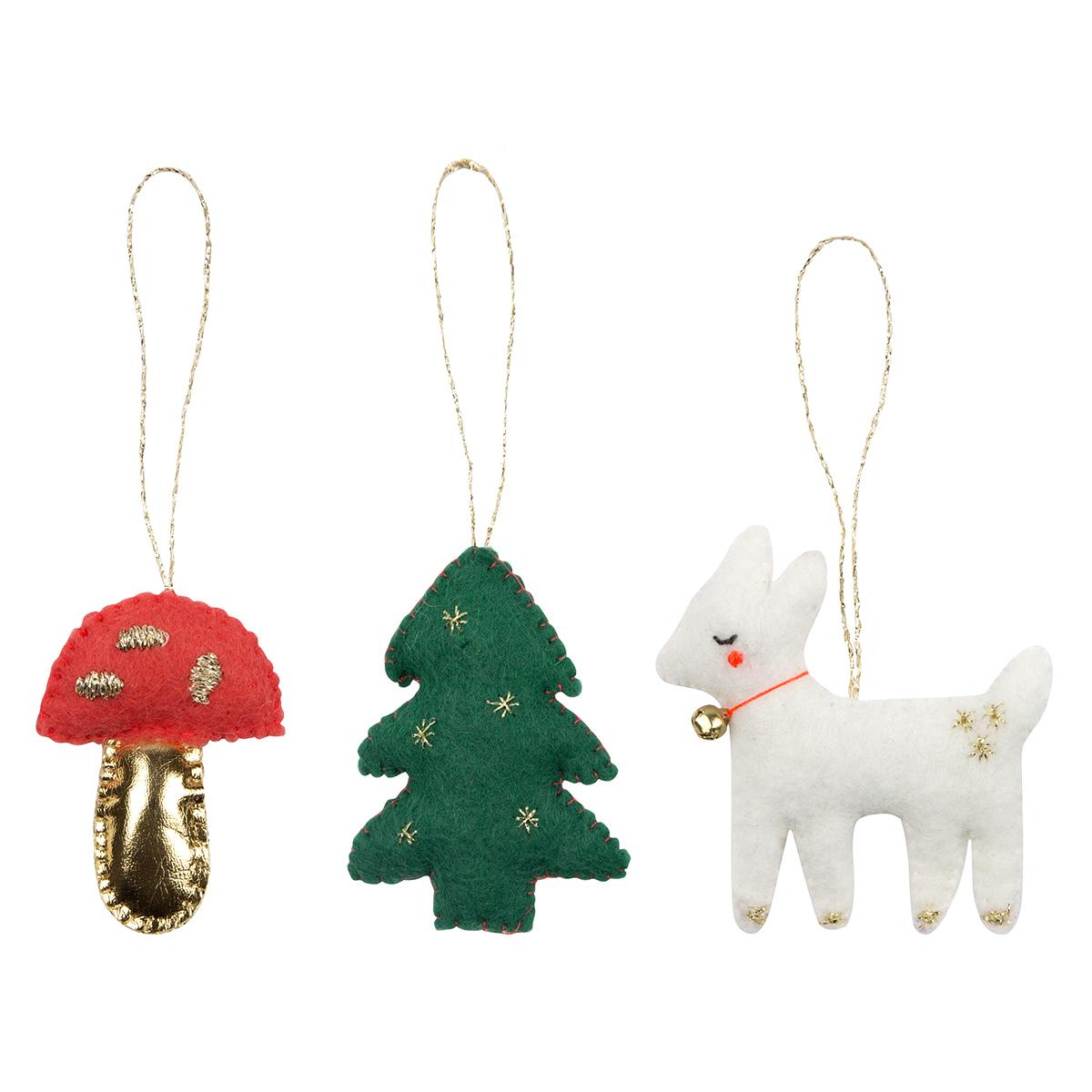 Objet décoration Lot de 3 Déco de Noël - Woodland