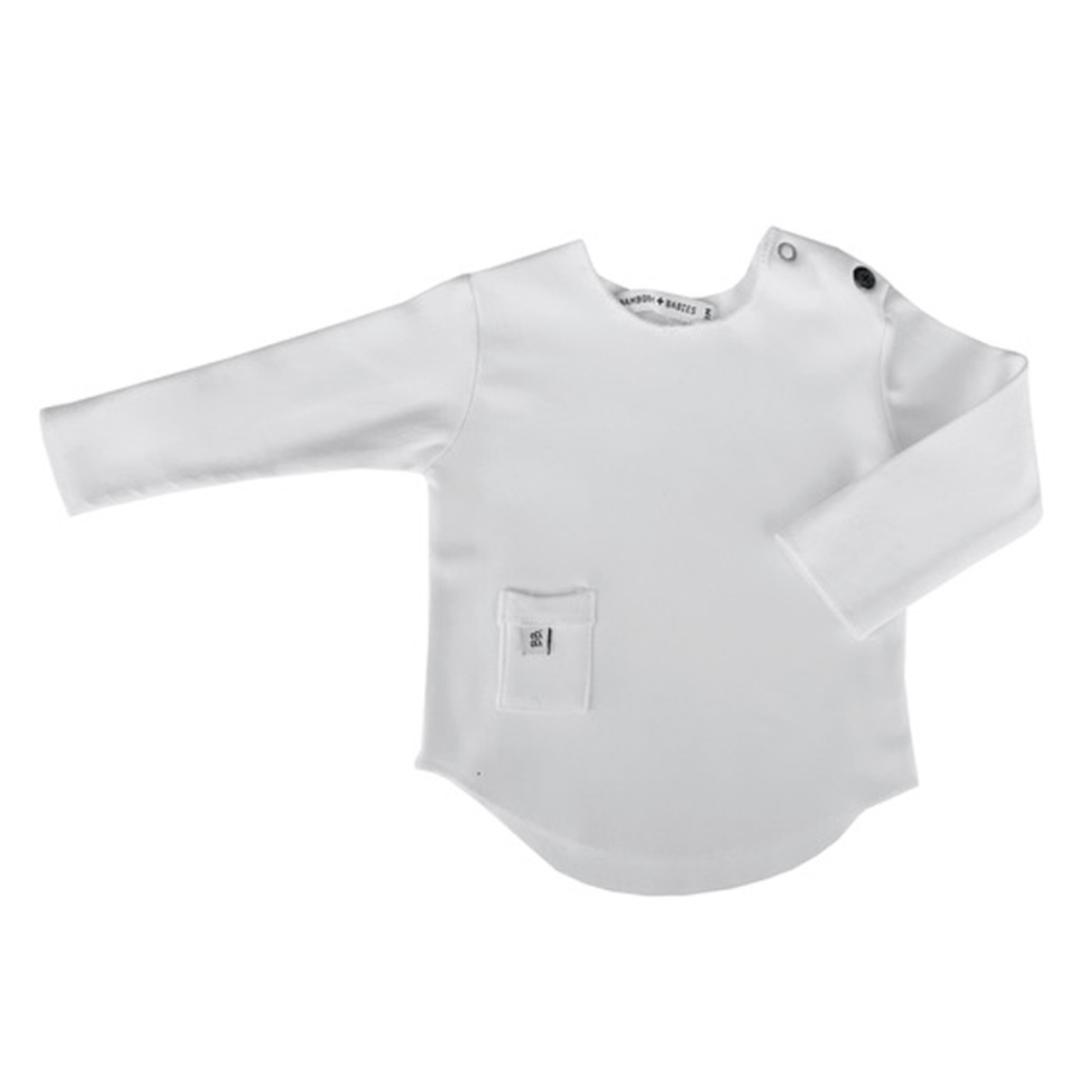 Haut bébé Tee-Shirt Manches Longues Blanc - 6 Mois Tee-Shirt Manches Longues Blanc - 6 Mois