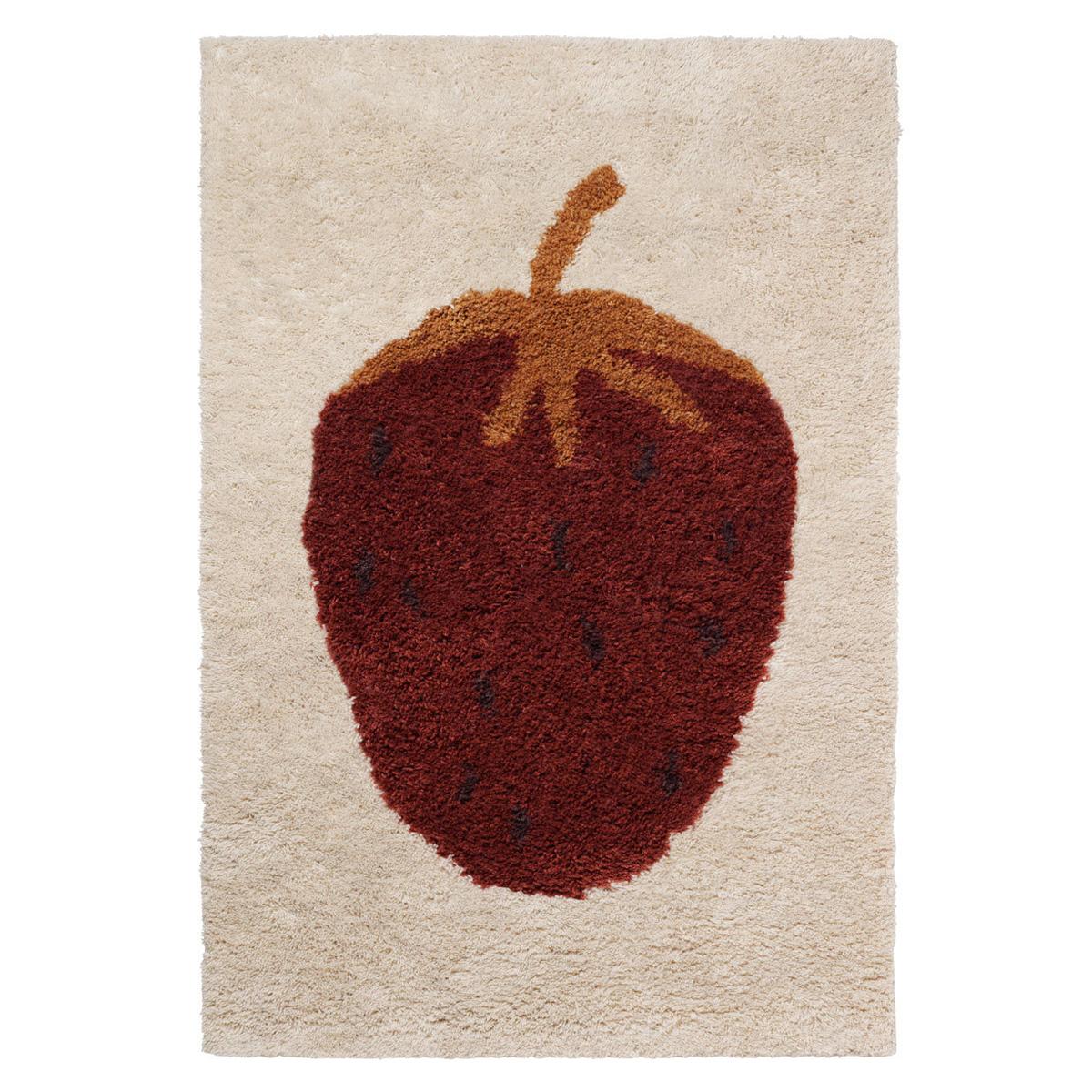 Tapis Tapis Fruiticana Fraise - 80 x 120 cm Tapis Fruiticana Fraise - 80 x 120 cm