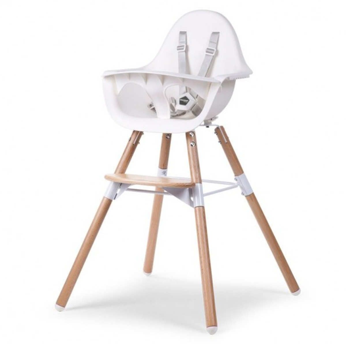 Chaise haute Chaise Haute Evolu 2 - Bois et Blanc Chaise Haute Evolu 2 - Bois et Blanc