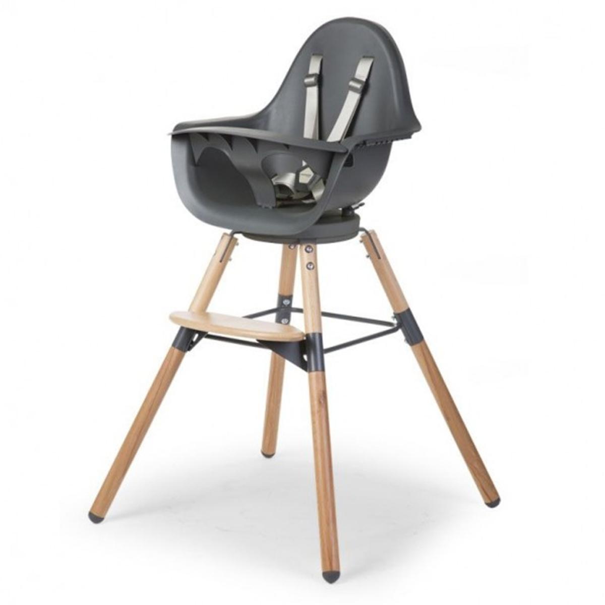 Chaise haute Chaise Haute Evolu One.80° - Bois et Anthracite Chaise Haute Evolu One.80° - Bois et Anthracite