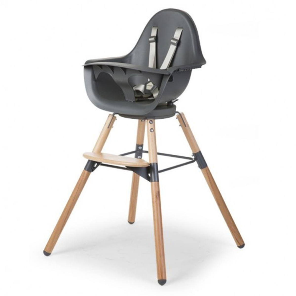 Chaise haute Chaise Haute Evolu One.80° Pieds Bois - Anthracite Chaise Haute Evolu One.80° Pieds Bois - Anthracite