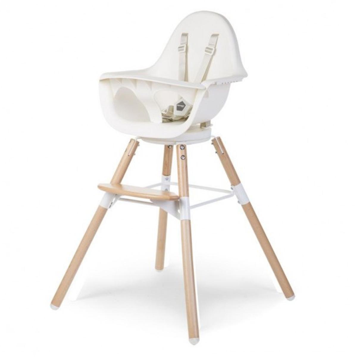 Chaise haute Chaise Haute Evolu One.80° Pieds Bois - Blanc Chaise Haute Evolu One.80° Pieds Bois - Blanc