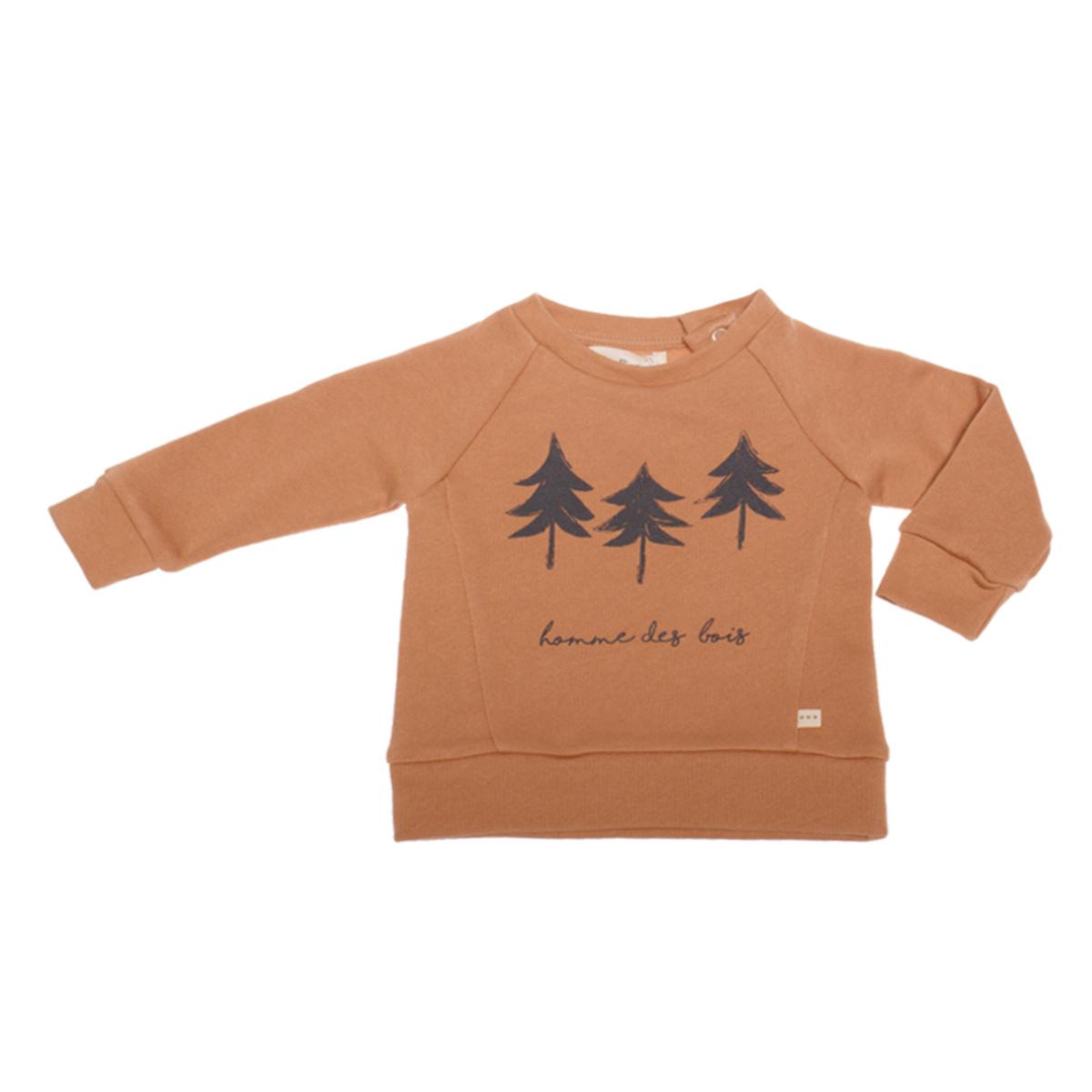 Haut bébé Sweatshirt Tristan Homme des Bois Cannelle - 18 Mois Sweatshirt Tristan Homme des Bois Cannelle - 18 Mois