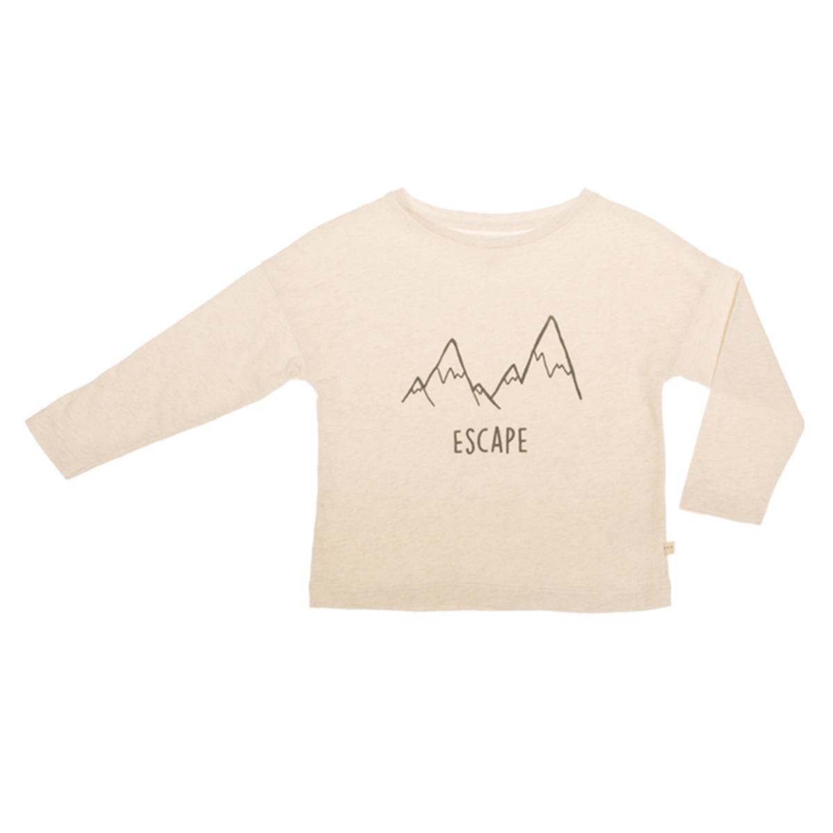 Haut bébé T-Shirt Manches Longues Escape Crème - 2/3 Ans T-Shirt Manches Longues Escape Crème - 2/3 Ans