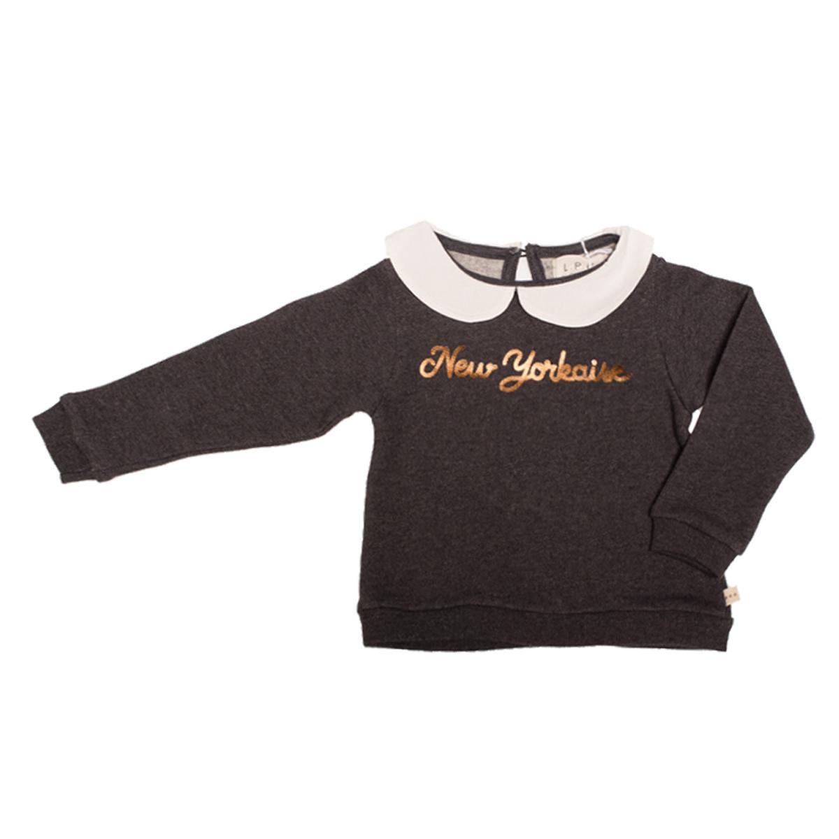 Haut bébé Sweatshirt Lorette New-York Charbon - 18 Mois Sweatshirt Lorette New-York Charbon - 18 Mois