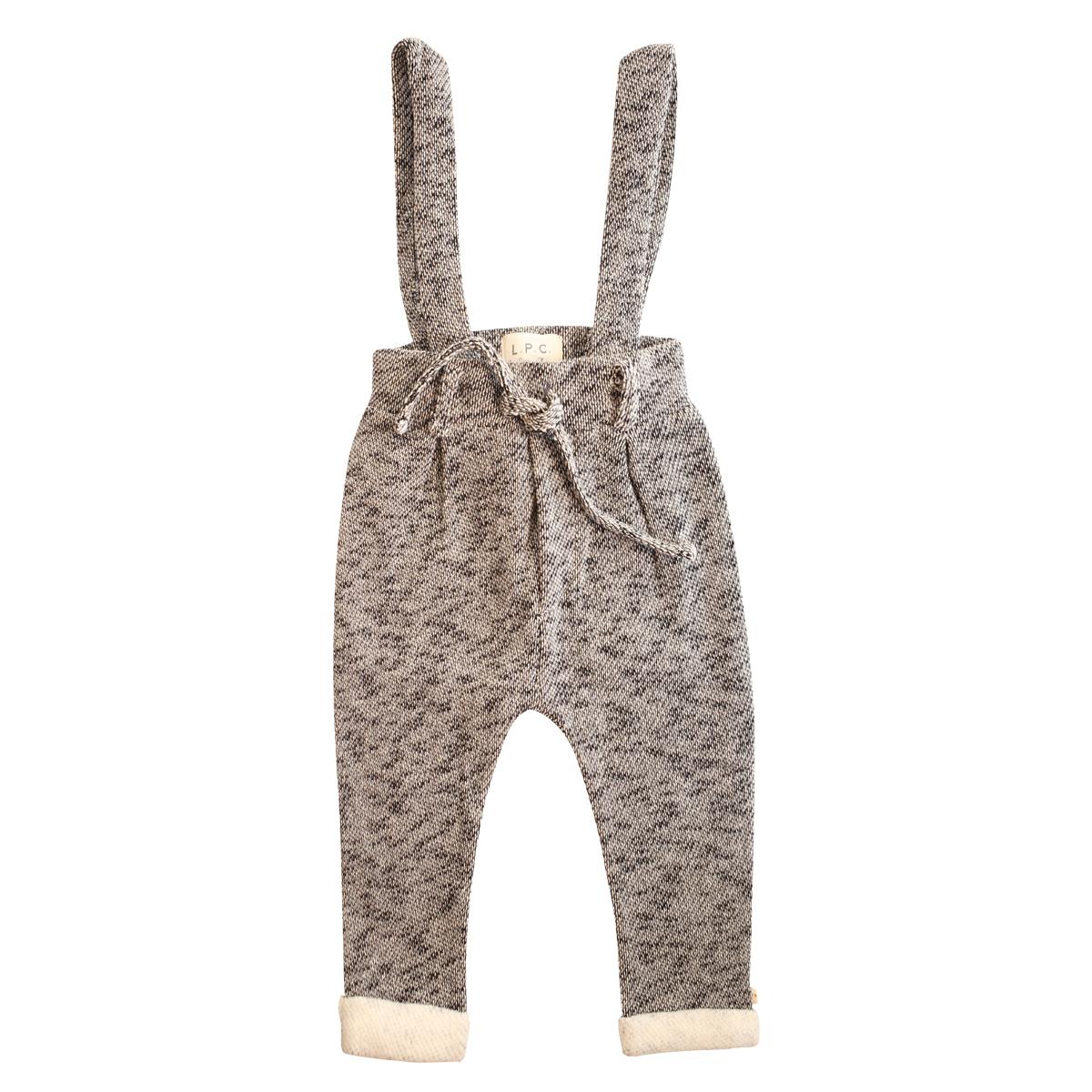 Bas bébé Pantalon avec Bretelles Suwy Gris Chiné - 2/3 Ans Pantalon avec Bretelles Suwy Gris Chiné - 2/3 Ans