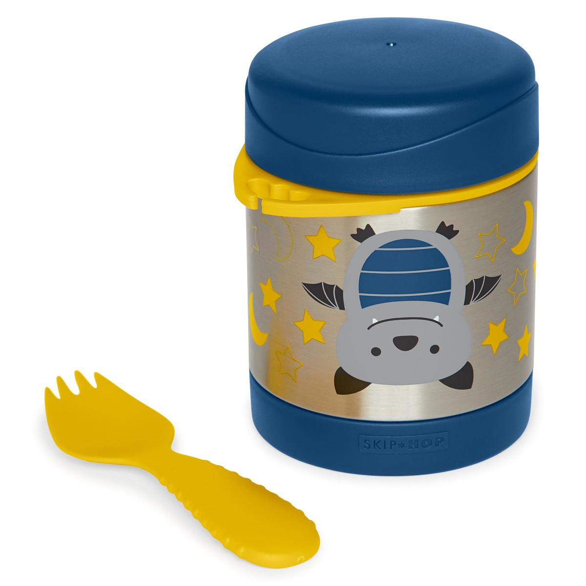 Vaisselle & Couvert Thermos Repas et Fourchette Zoo - Chauve-souris Thermos Repas et Fourchette Zoo - Chauve-souris