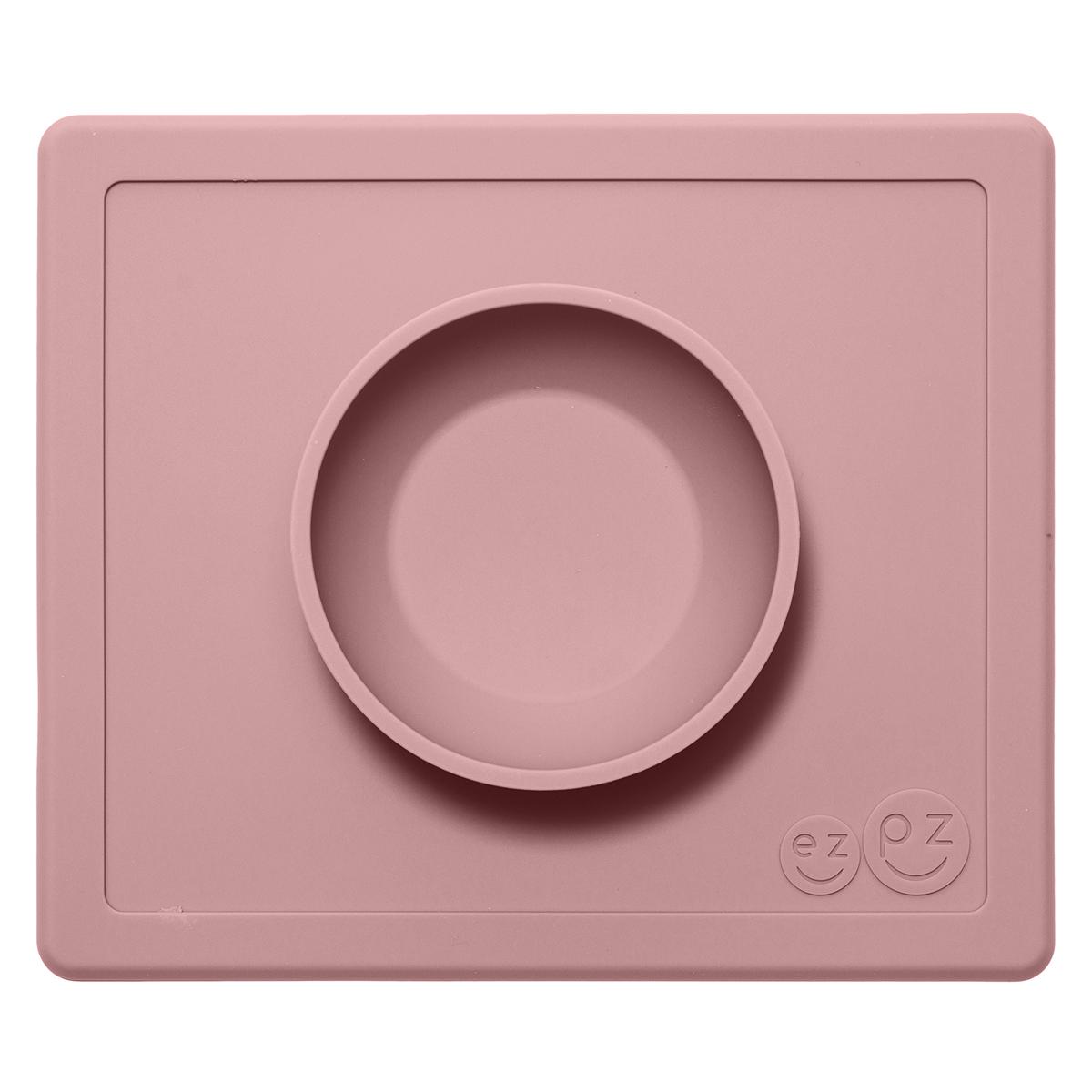 Vaisselle & Couvert Set de Table et Assiette Tout-en-1 Irrenversable Happy Bowl - Rose Poudré