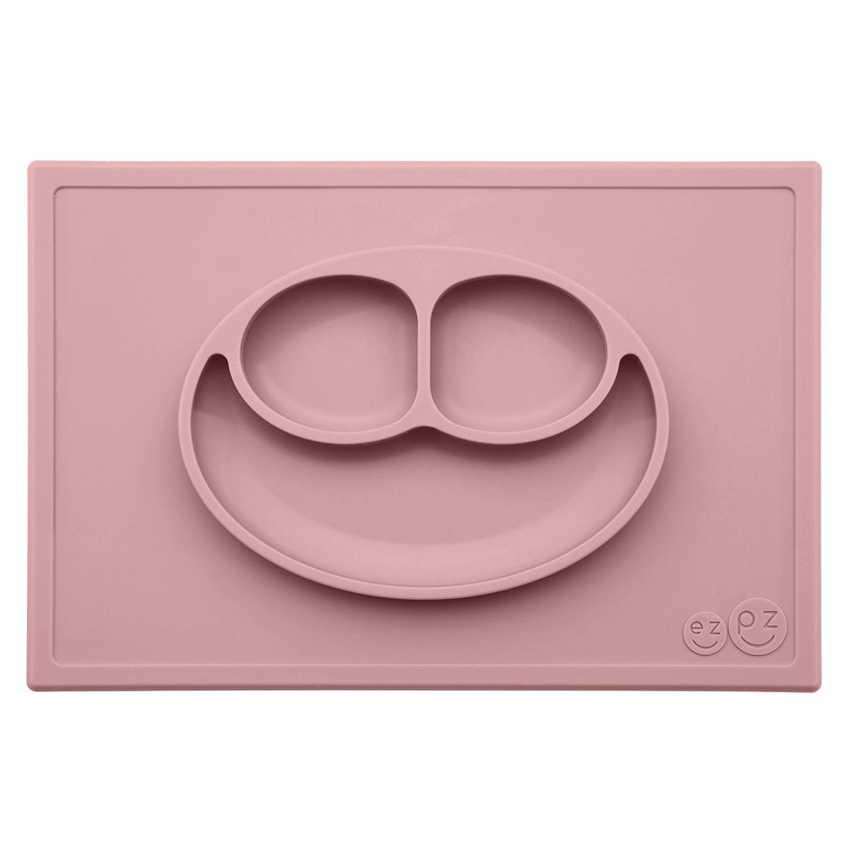 Vaisselle & Couvert Set de Table et Assiette Tout-en-1 Irrenversable Happy Mat - Rose Poudré