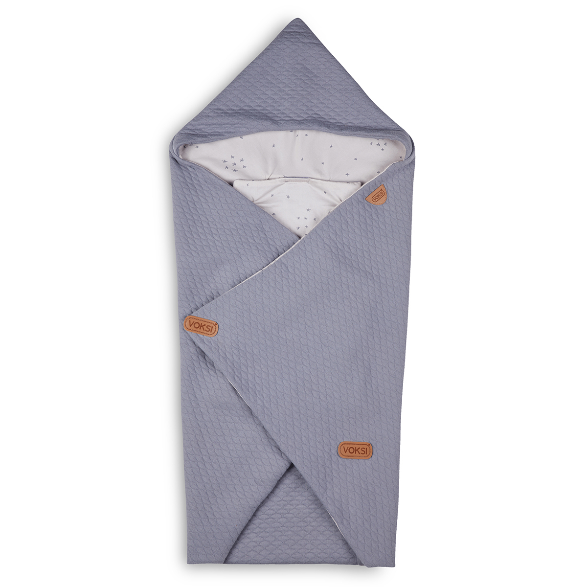 Confort Couverture Baby Wrap - Light Grey Star Couverture Baby Wrap - Light Grey Star