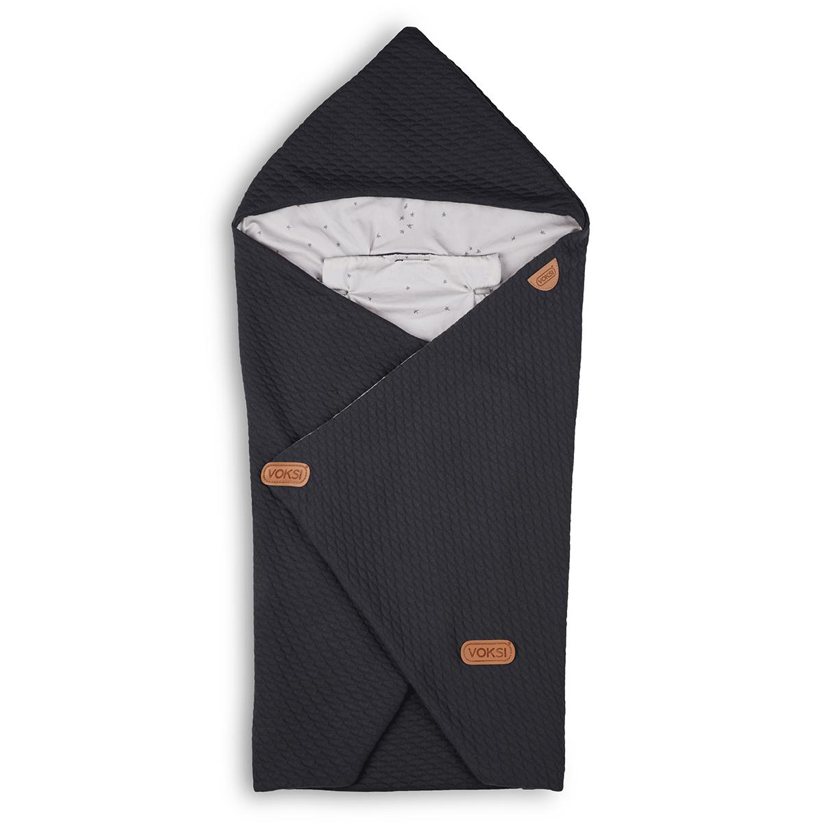 Confort Couverture Baby Wrap - Dark Grey Star Couverture Baby Wrap - Dark Grey Star