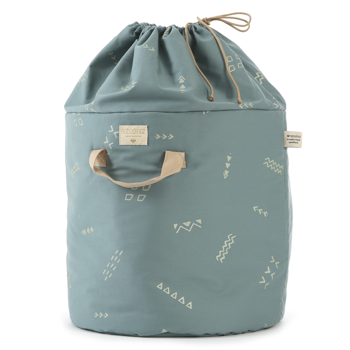 Rangement jouet Sac à Jouets Bamboo - Gold Confetti & Magic Green