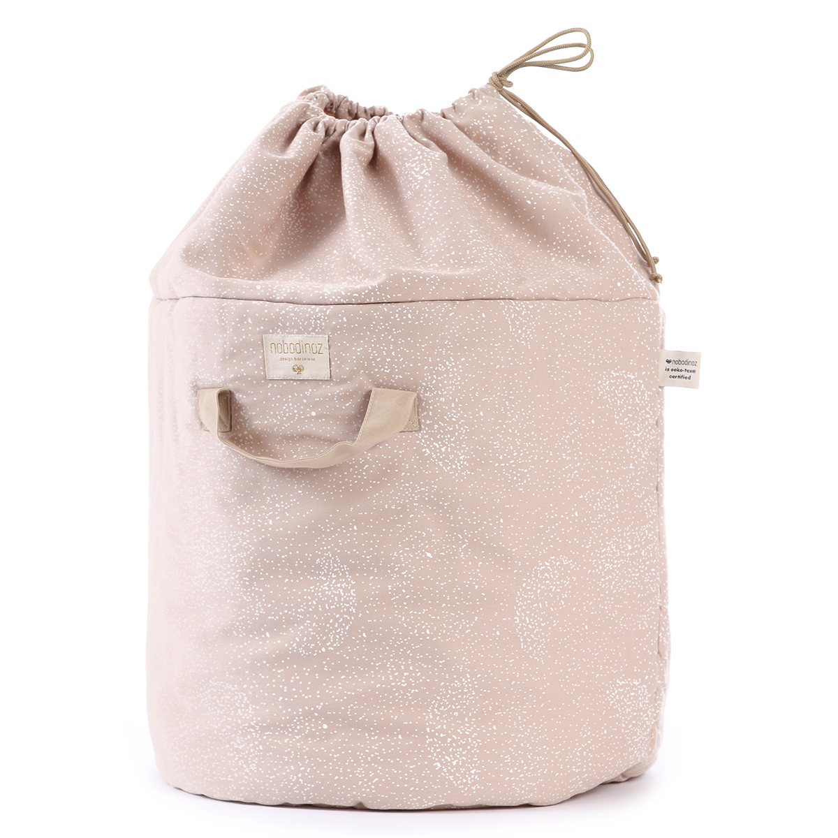 Rangement jouet Sac à Jouets Bamboo - White Bubble & Misty Pink