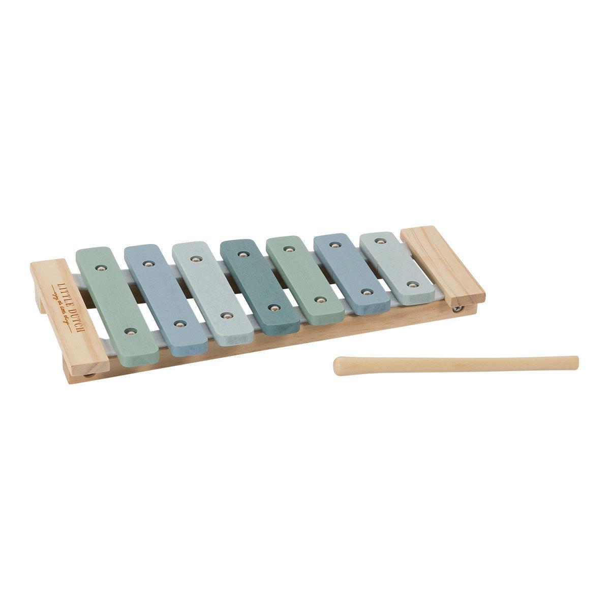 Mes premiers jouets Xylophone en Bois Aventure - Bleu