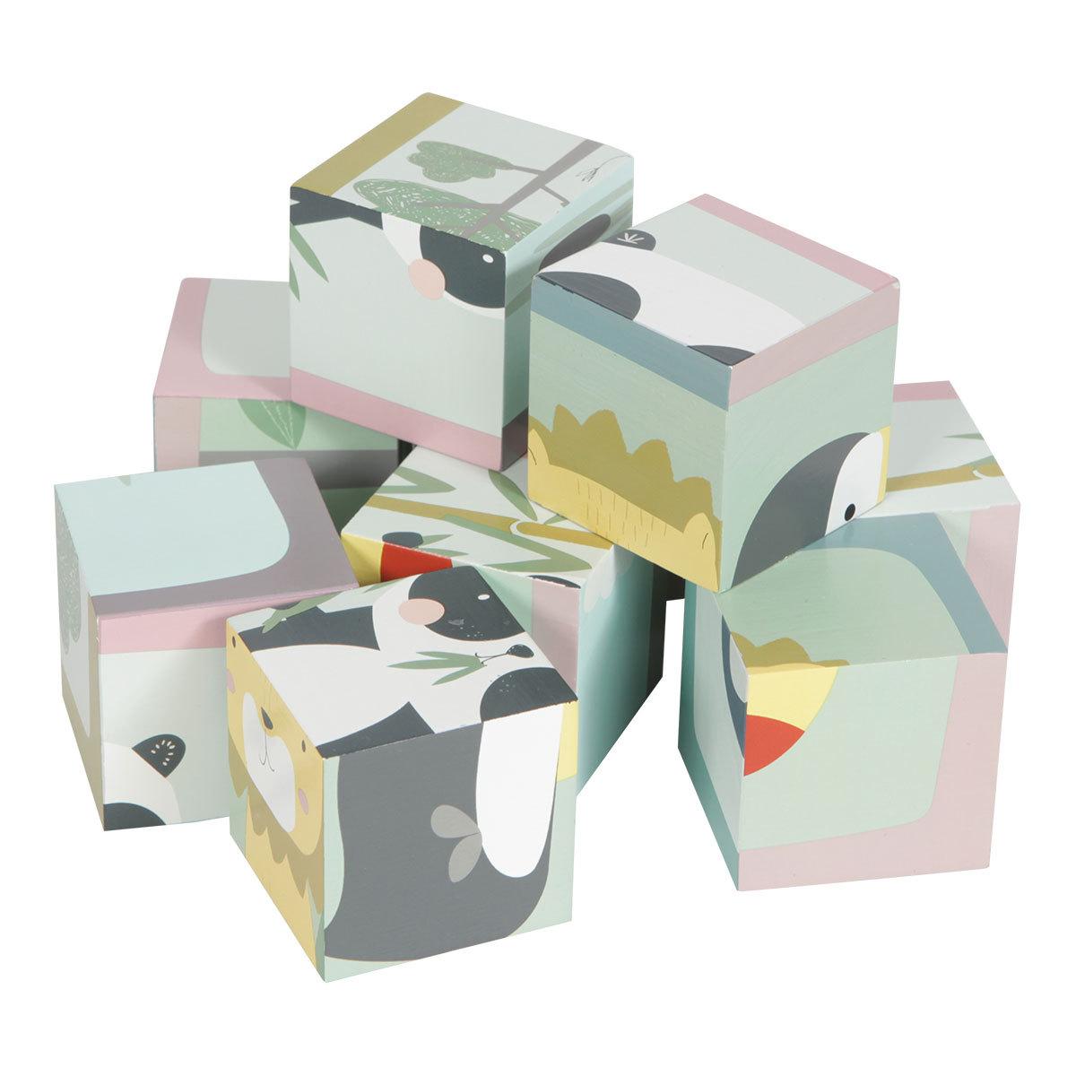 Mes premiers jouets Puzzle à Cubes en Bois Zoo Little Dutch - AR201908080052