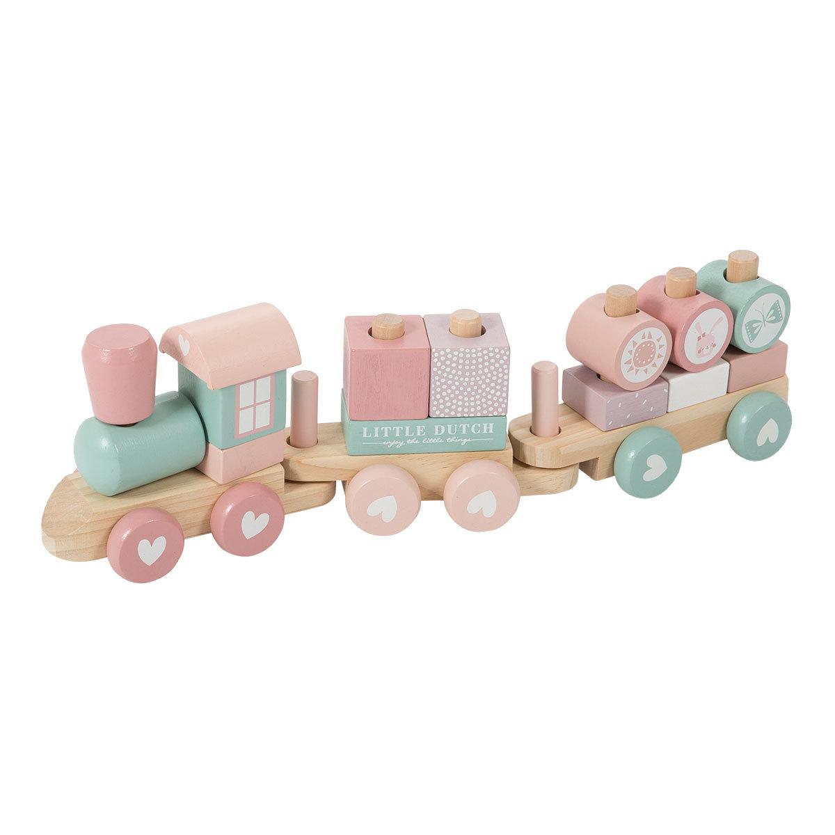 Mes premiers jouets Train à Blocs - Rose Train à Blocs - Rose