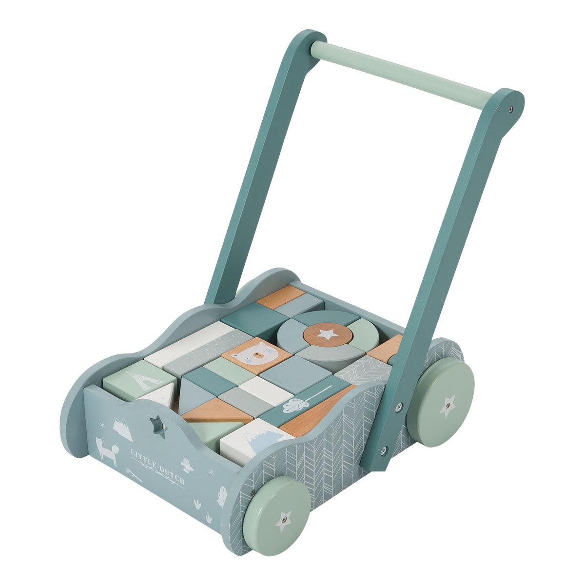 Mes premiers jouets Chariot à Blocs - Bleu Chariot à Blocs - Bleu