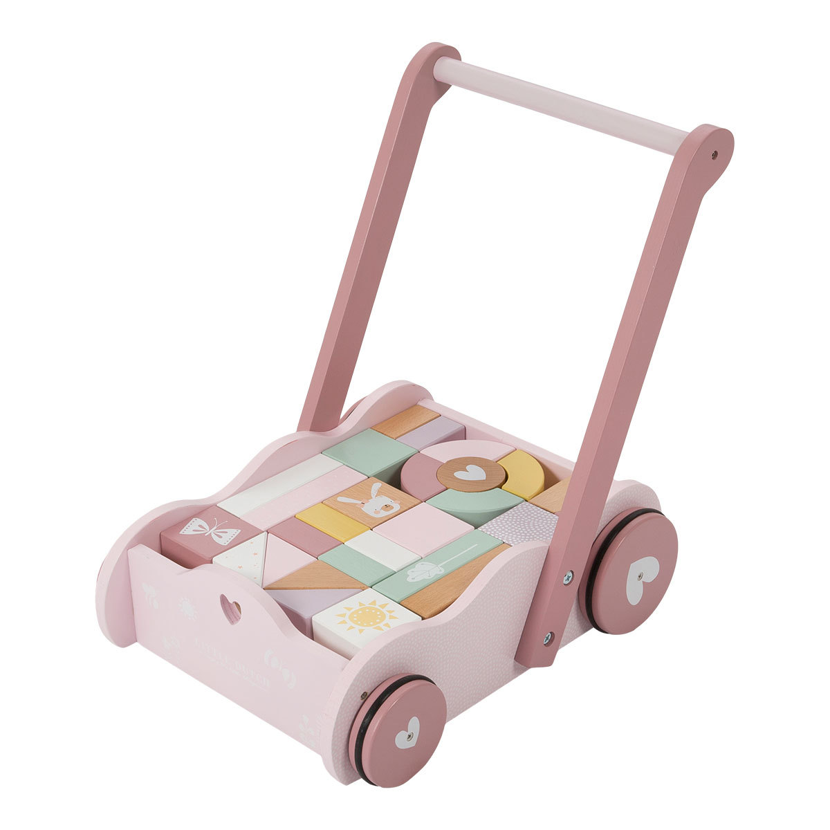 Trotteur & Porteur Chariot à Blocs - Rose Chariot à Blocs - Rose