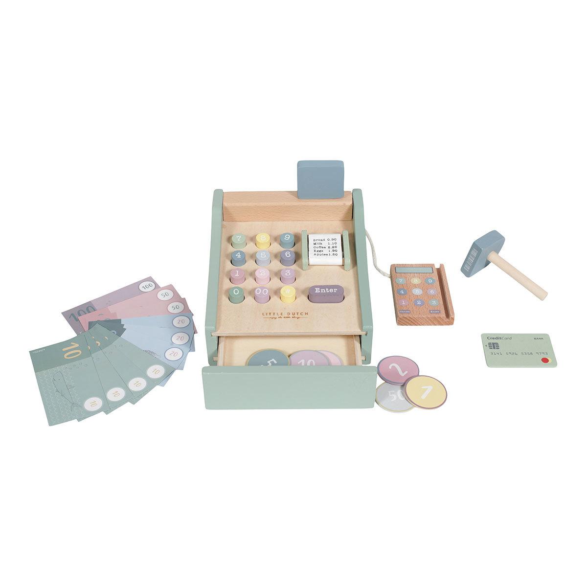 Mes premiers jouets Caisse Enregistreuse en Bois