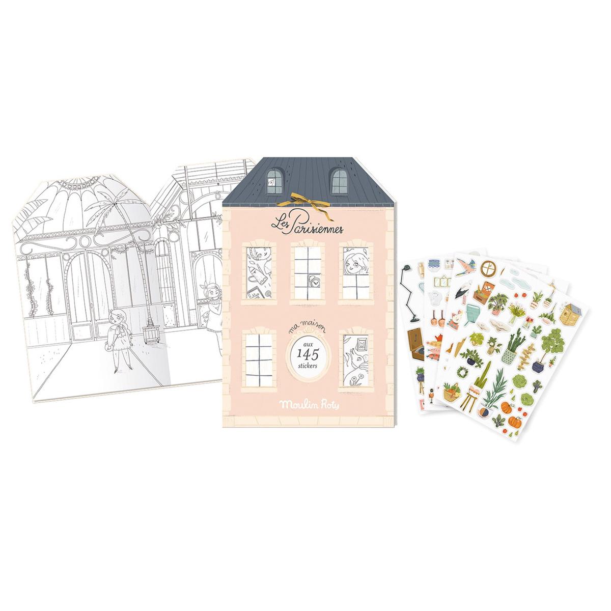 Livre & Carte Cahier de Stickers - Les Parisiennes