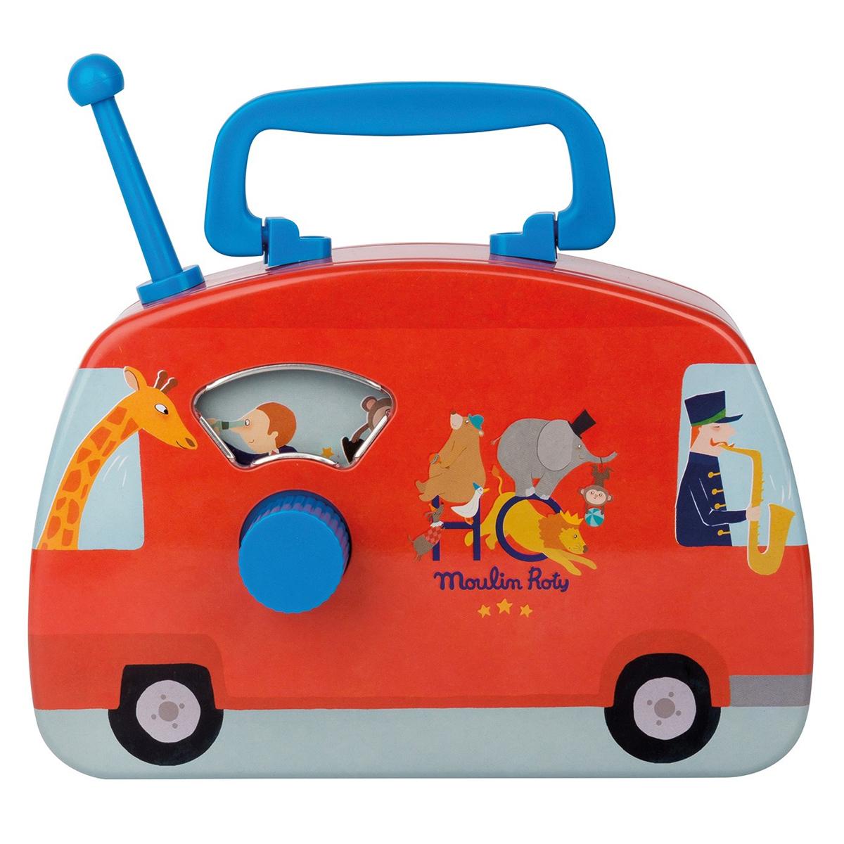 Mes premiers jouets Bus Musical Cirque - Les Jouets en Métal Bus Musical Cirque - Les Jouets en Métal
