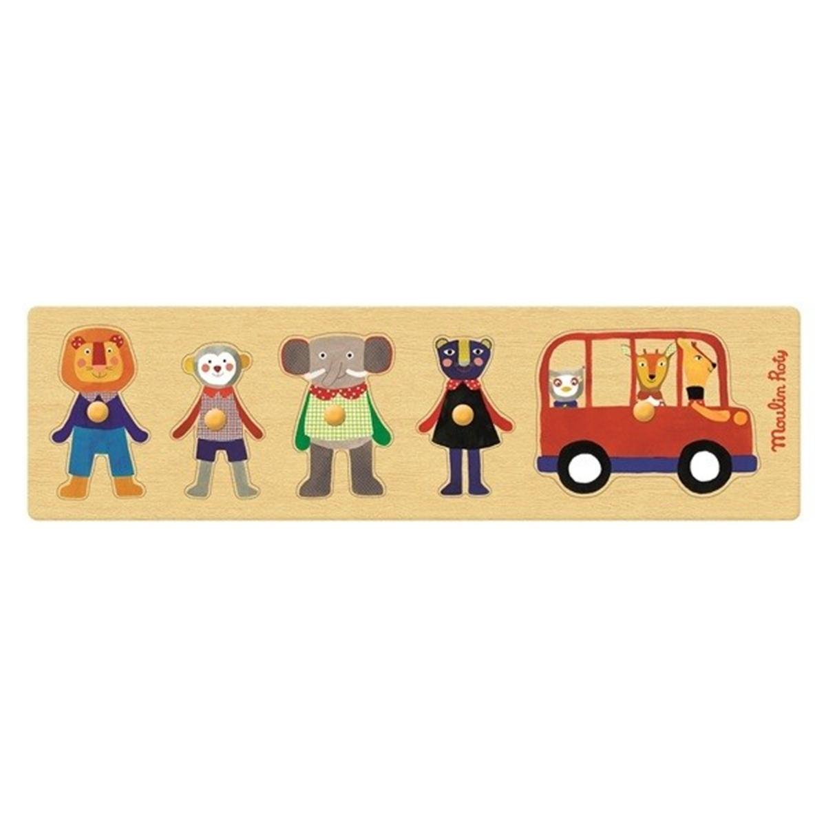 Mes premiers jouets Puzzle Dans le Bus - Les Popipop