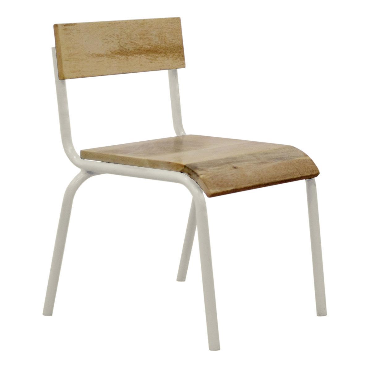Table & Chaise Chaise d'Écolier - Blanc Chaise d'Écolier - Blanc