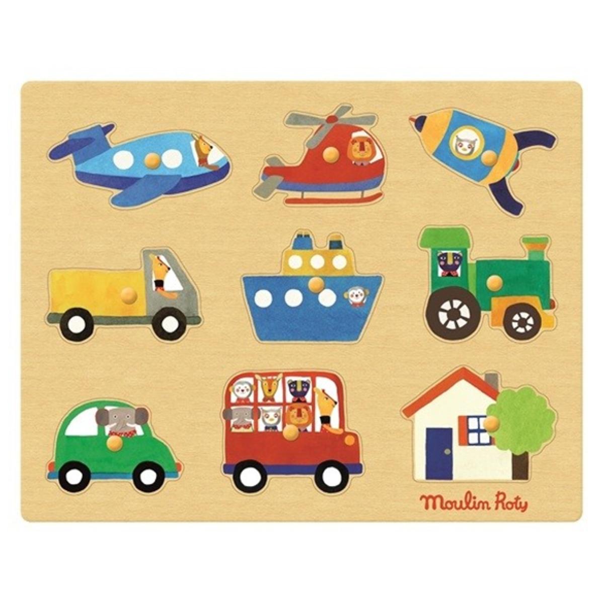 Mes premiers jouets Puzzle Les Transports - Les Popipop