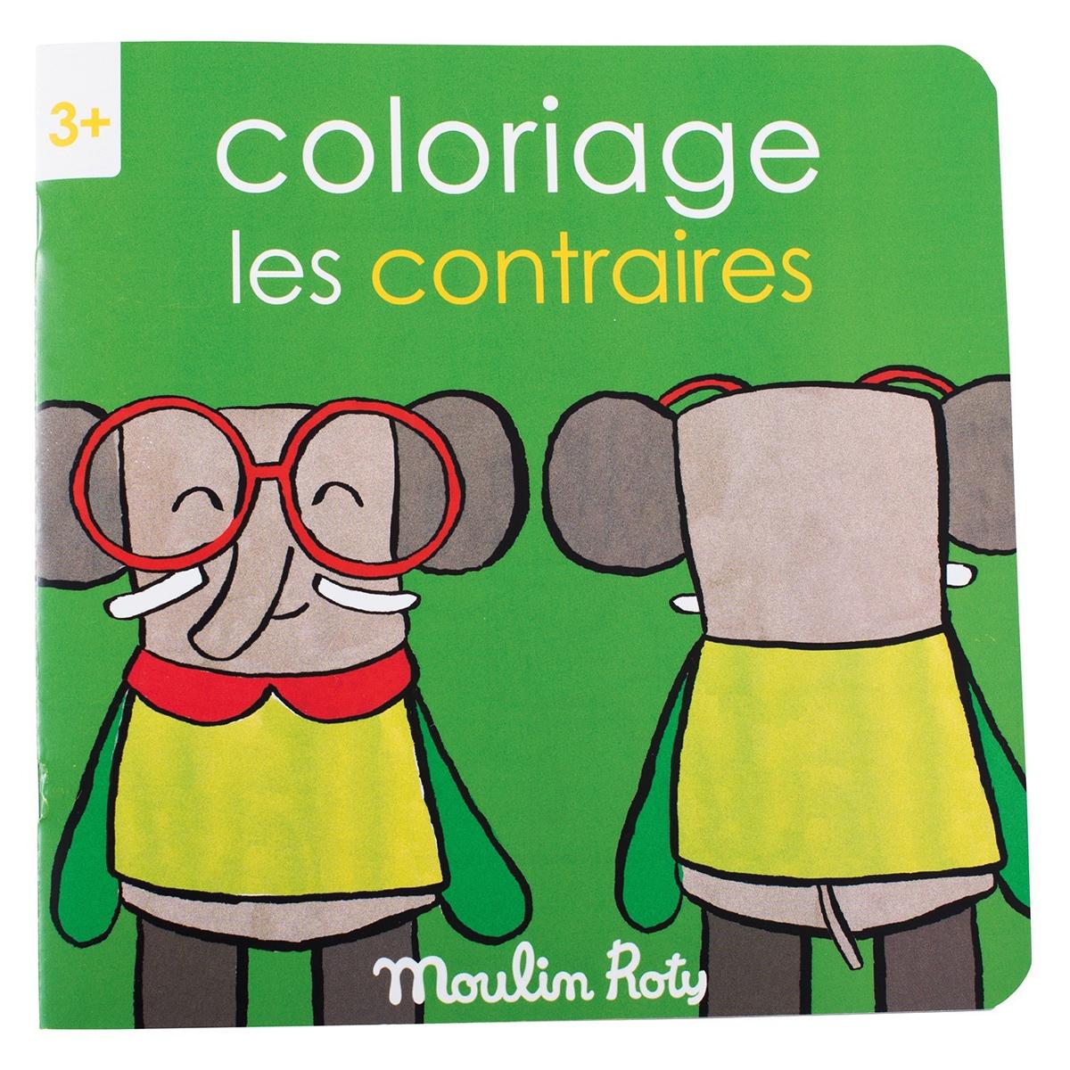 Livre & Carte Cahier de Coloriage Les Contraires - Les Popipop