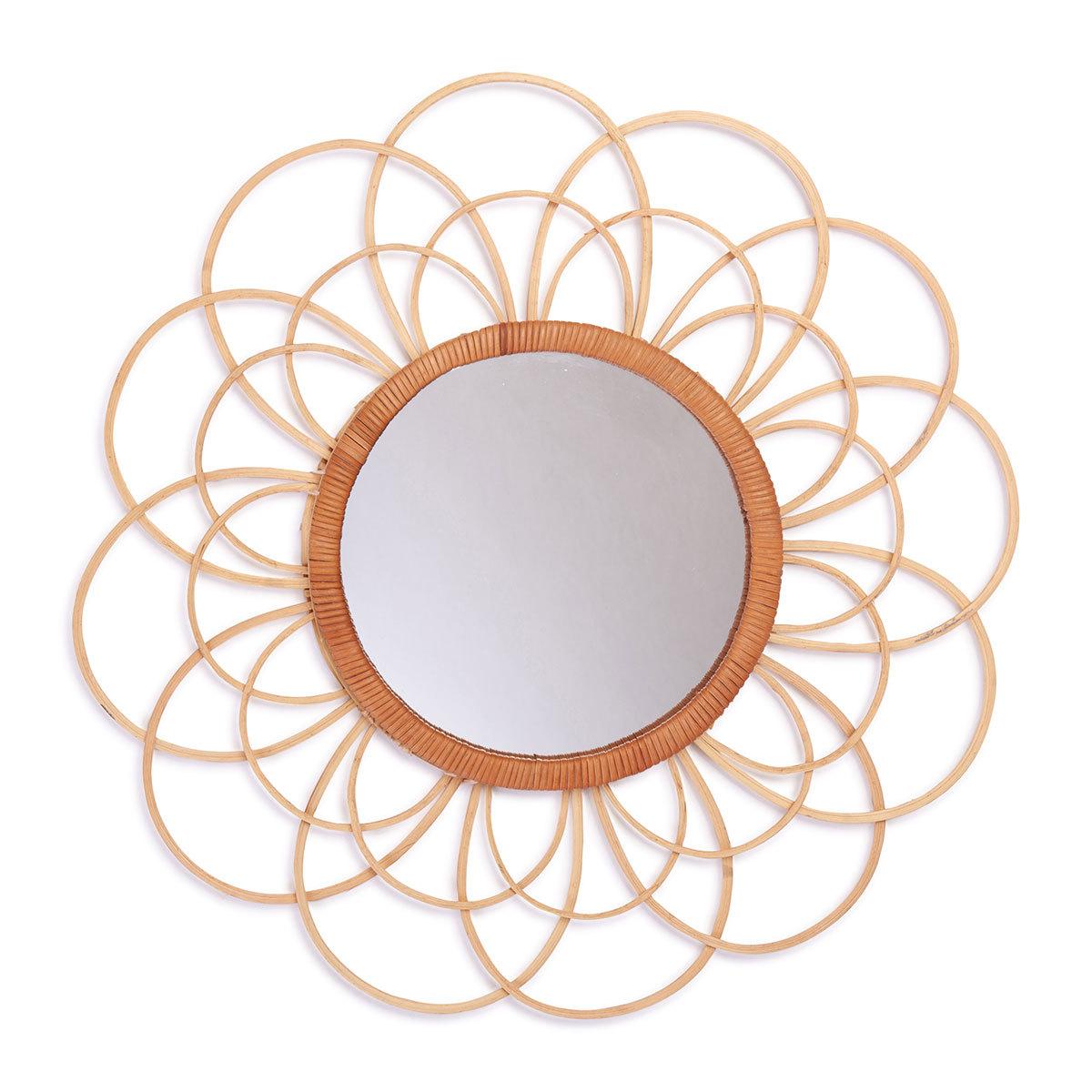 Miroir Miroir en Osier Zoom