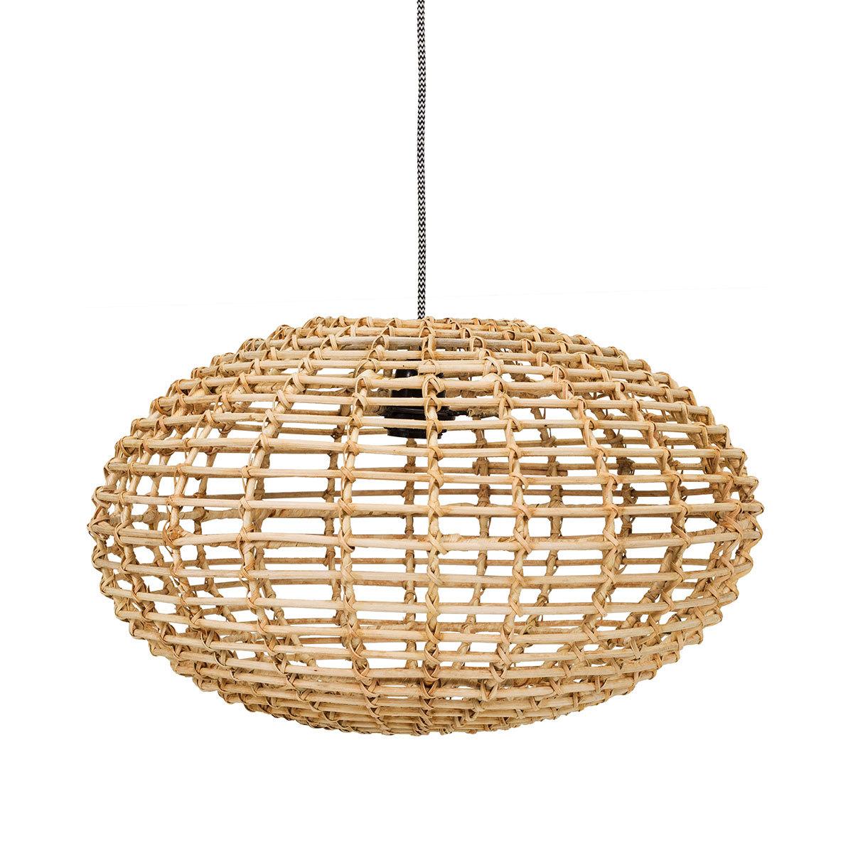 LDLC.com Lampe en Rotin Pumpkin - Naturel Lampe en Rotin Pumpkin - Naturel
