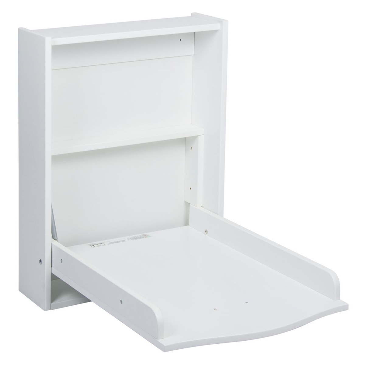 Quax table langer murale white table langer quax - Table a langer murale autour de bebe ...