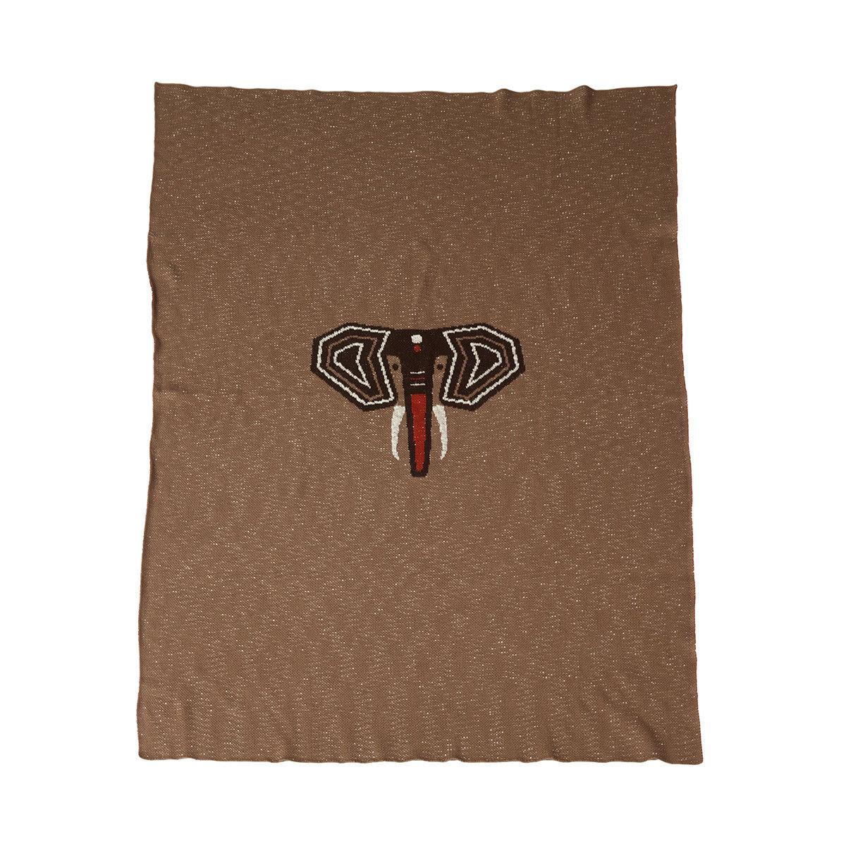 Linge de lit Couverture Tricot pour Lit - Eléphant
