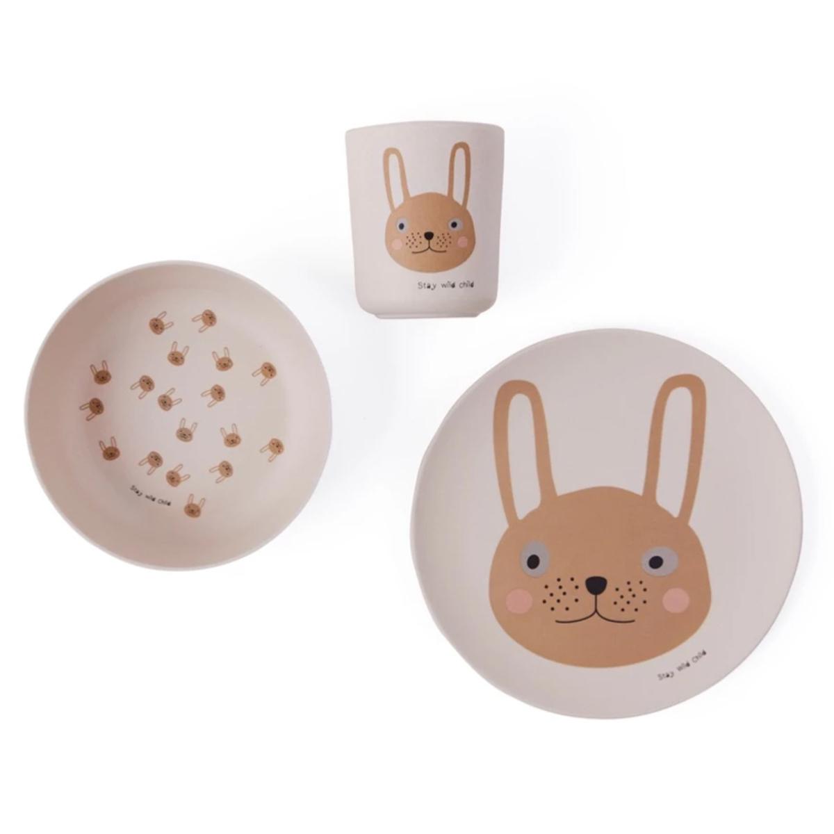 Coffret repas Coffret Repas 3 Pièces - Rabbit Coffret Repas 3 Pièces - Rabbit