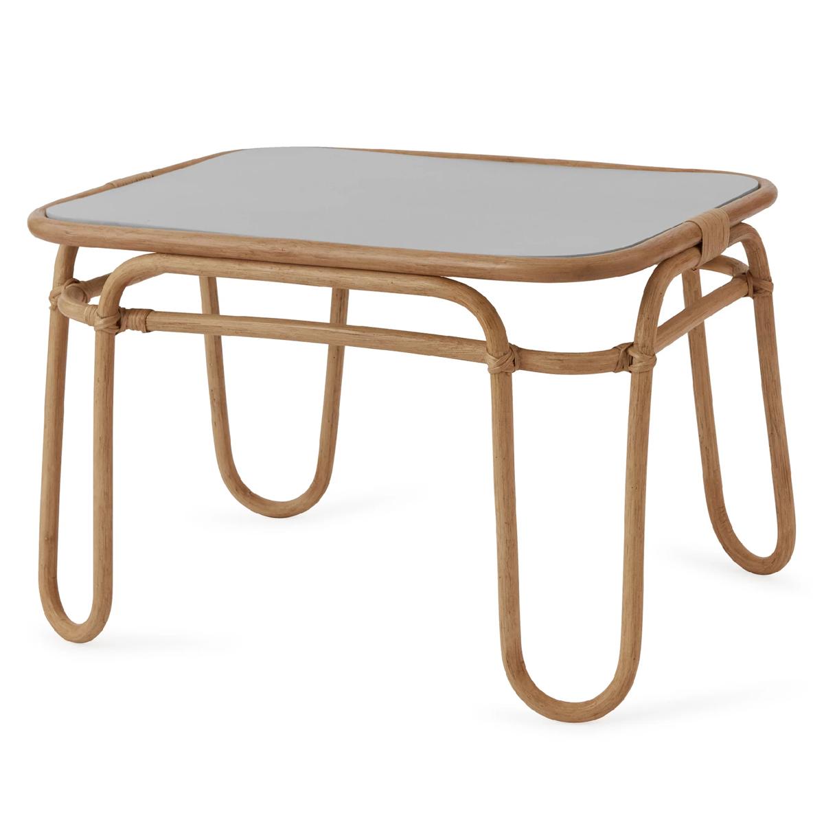 Table & Chaise Table Rainbow  Naturel et Gris Table Rainbow  Naturel et Gris