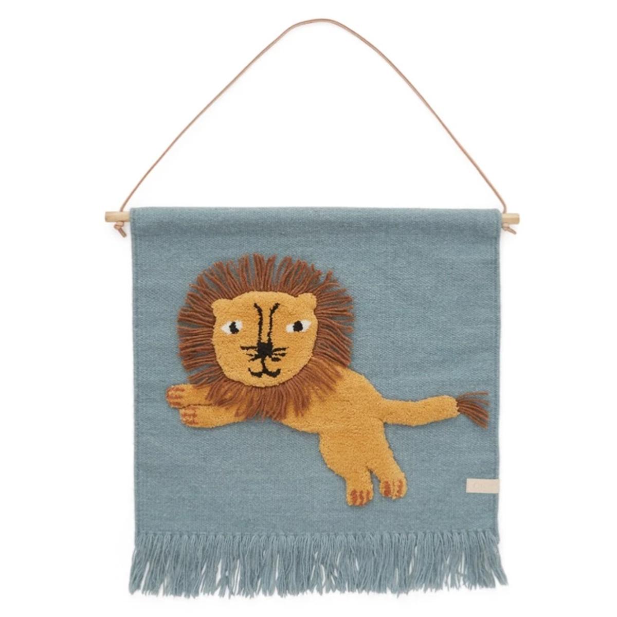Objet décoration Tapis Mural Jumping Lion
