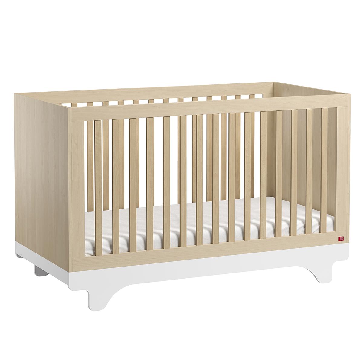 Lit bébé Lit Bébé Evolutif Playwood Bois et Blanc - 70 x 140 cm
