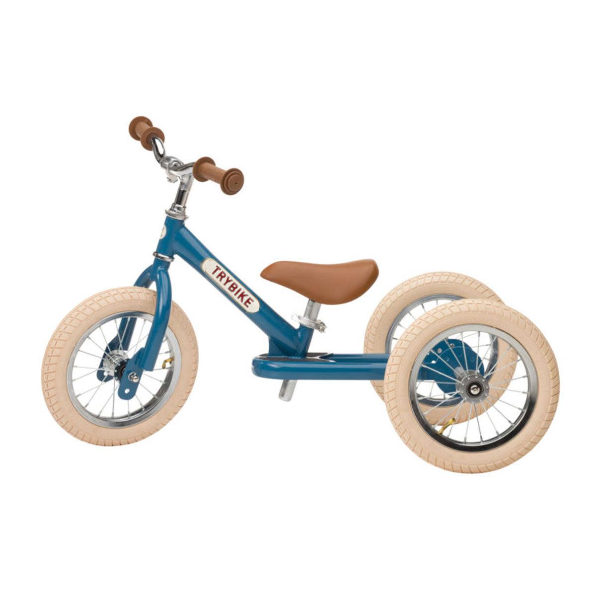 Trotteur & Porteur Trybike 2 en 1 - Vintage Bleu Trybike 2 en 1 - Vintage Bleu