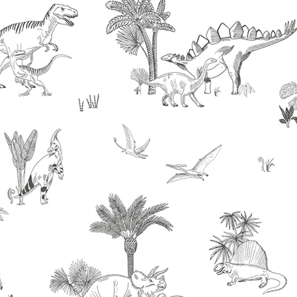 Papier peint Papier Peint - Motif Dinosaures Papier Peint - Motif Dinosaures