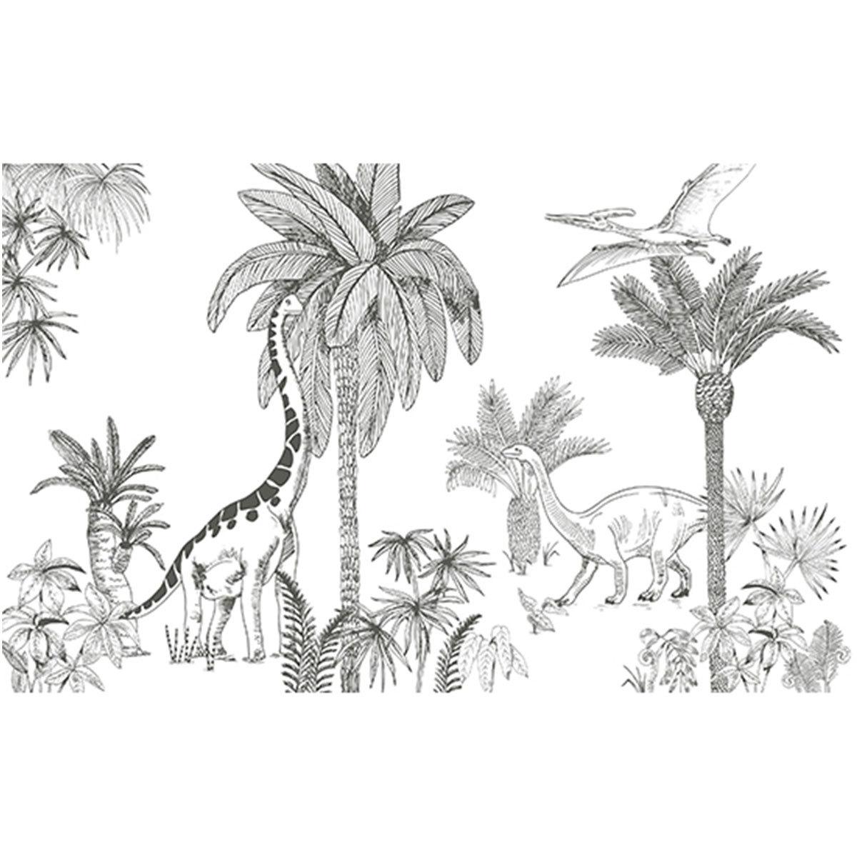 Papier peint Papier Peint - Frise Dinosaure Papier Peint - Frise Dinosaure