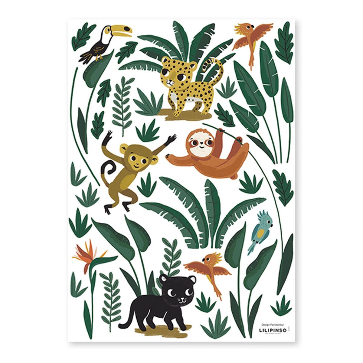 Sticker Stickers - Petits animaux de la Jungle