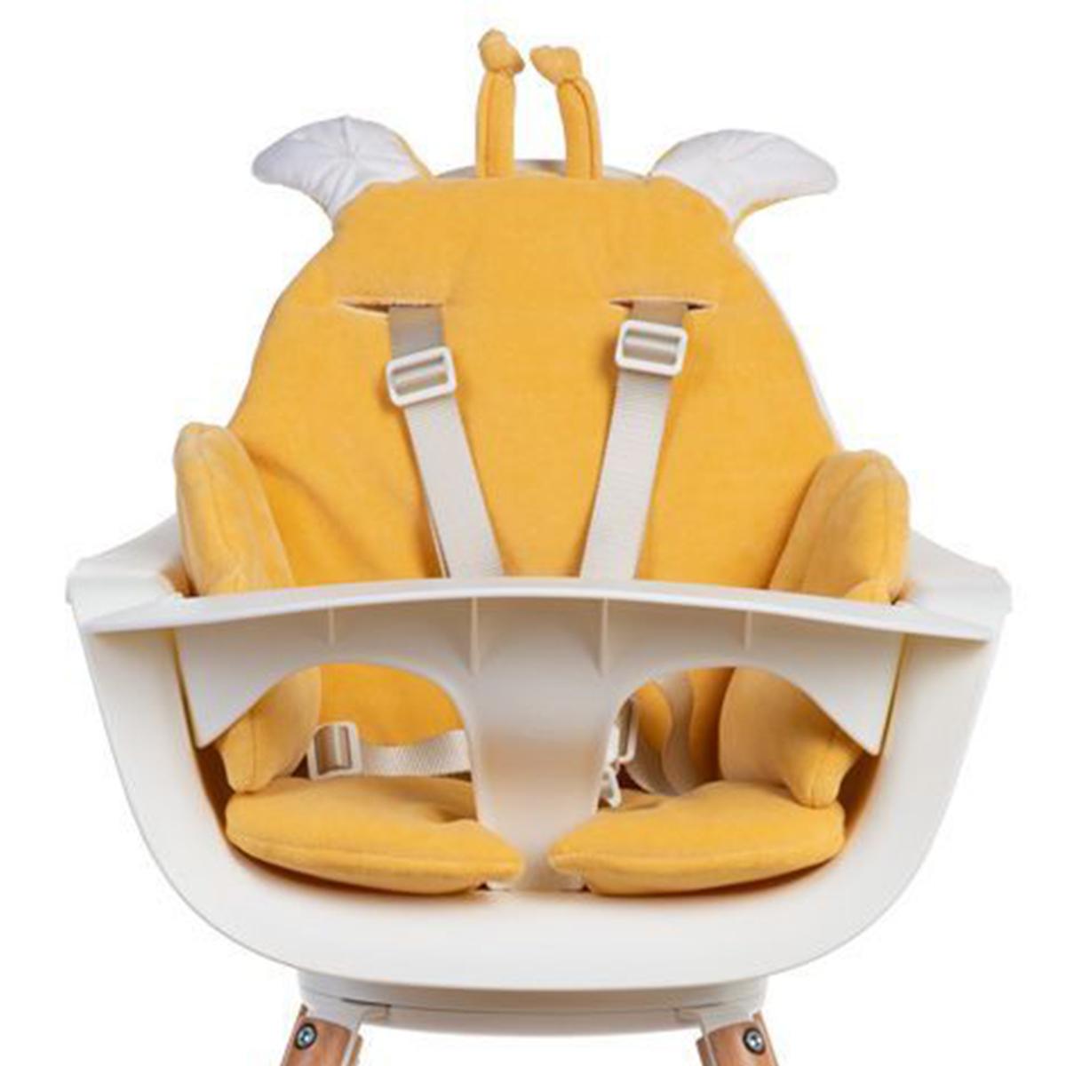 Chaise haute Coussin de Chaise Haute Giraffe Velvet - Ochre Coussin de Chaise Haute Giraffe Velvet - Ochre