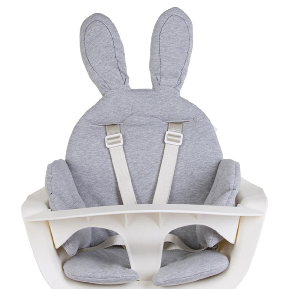 Chaise haute Coussin de Chaise Haute Rabbit Jersey - Gris Coussin de Chaise Haute Rabbit Jersey - Gris