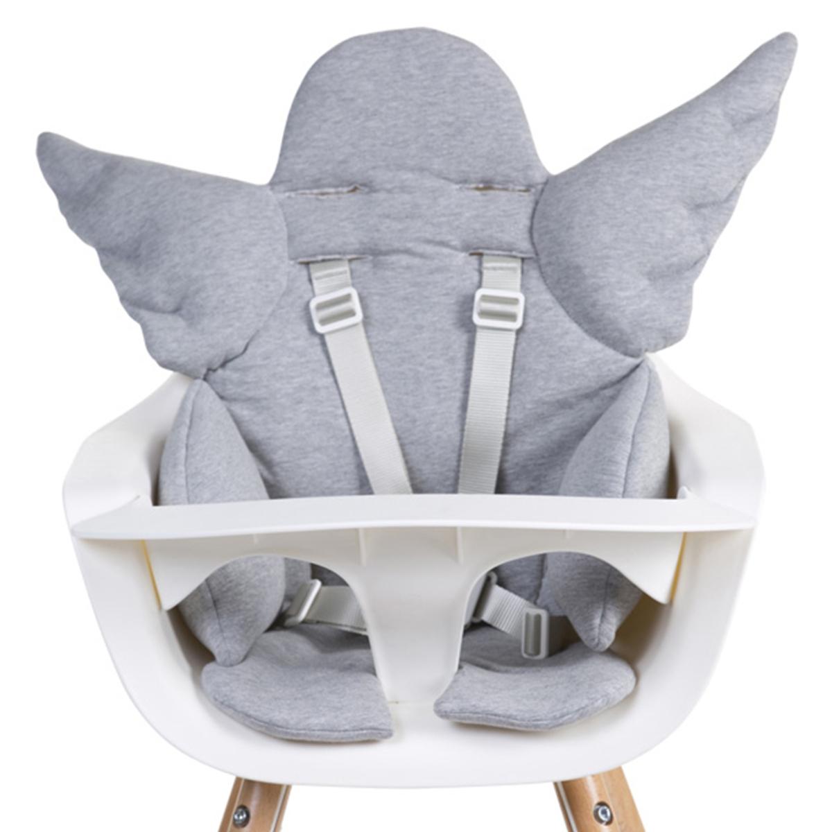 Chaise haute Coussin de Chaise Haute Ange Jersey - Gris Coussin de Chaise Haute Ange Jersey - Gris