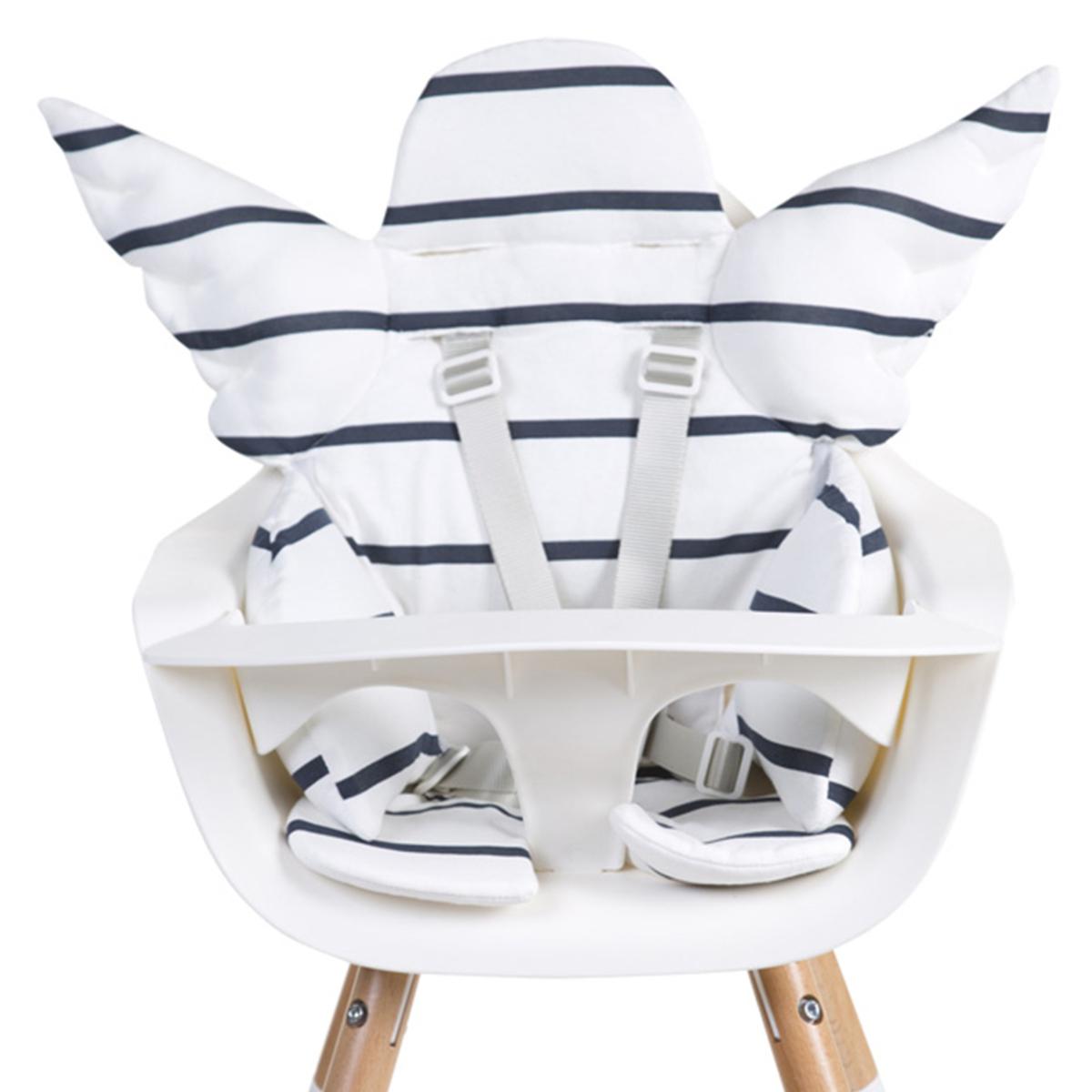 Chaise haute Coussin de Chaise Haute Ange Jersey - Marin Coussin de Chaise Haute Ange Jersey - Marin